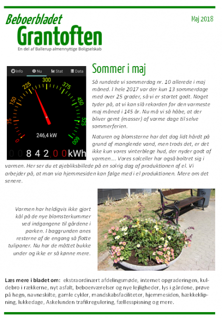 Beboerbladet Grantoften Maj 2018