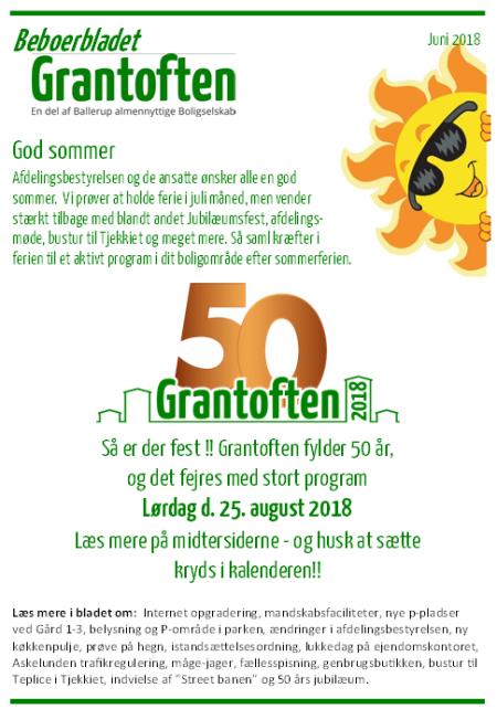 Beboerbladet Grantoften Juni 2018