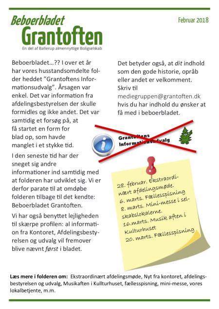 Beboerbladet Grantoften Februar 2018