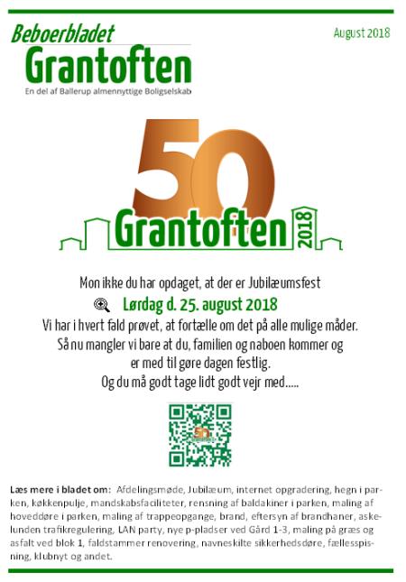 Beboerbladet Grantoften August 2018