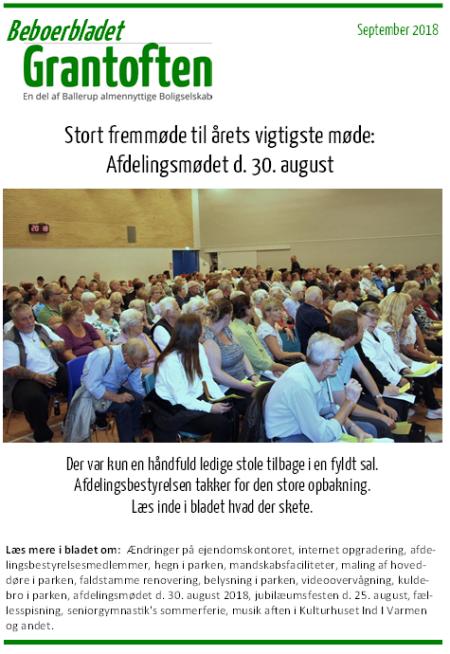Beboerbladet Grantoften September 2018